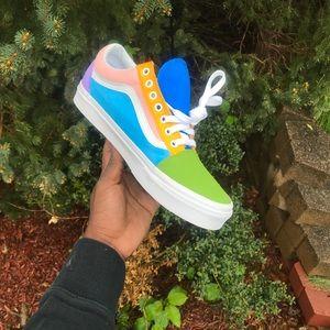 27af432738926 Vans Shoes - Customized Vans Low Old Skool Vans Multi-Colored